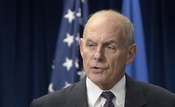 Bộ trưởng An ninh Nội địa Mỹ John Kelly. Ảnh:Yonhap