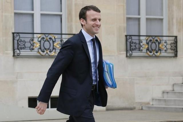 Ứng viên trung hữu Emmanuel Macron. (Ảnh: Reuters)