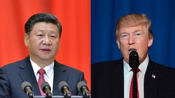 Chủ tịch Trung Quốc Tập Cận Bình và Tổng thống Mỹ Donald Trump. Ảnh: CGTN