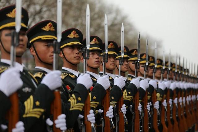 Lưc lượng quân đội Trung Quốc (Ảnh: Chosun)