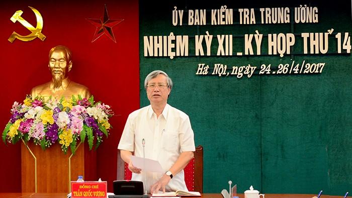 Đồng chí Trần Quốc Vượng chủ trì kỳ họp. Ảnh Dangcongsan.vn