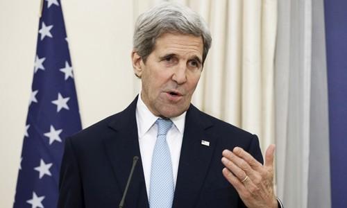 Cựu ngoại trưởng Mỹ John Kerry. Ảnh:Reuters.