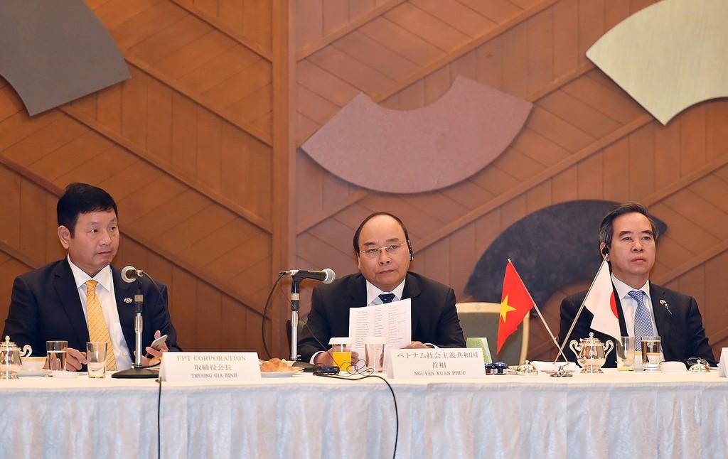 Thủ tướng tọa đàm với các doanh nghiệp CNTT Nhật Bản - ảnh 1