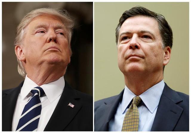 Tổng thống Mỹ Donald Trump và cựu Giám đốc FBi James Comey. (Ảnh: Reuters)