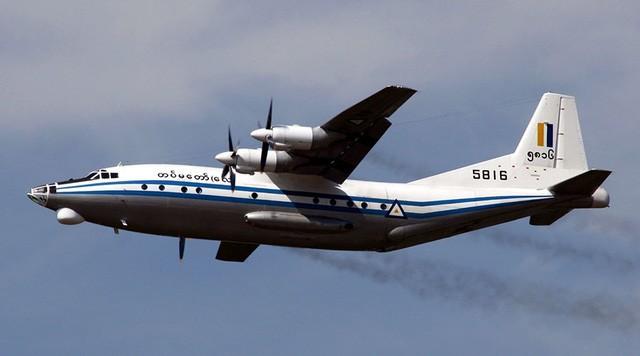 Một máy bay vận tải Y-8-200F của Myanmar, cùng loại với chiếc mất tích (Ảnh: Wikipedia)