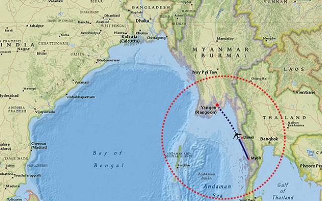 Myanmar huy động lực lượng tìm kiếm máy bay chở 120 người mất tích - ảnh 1