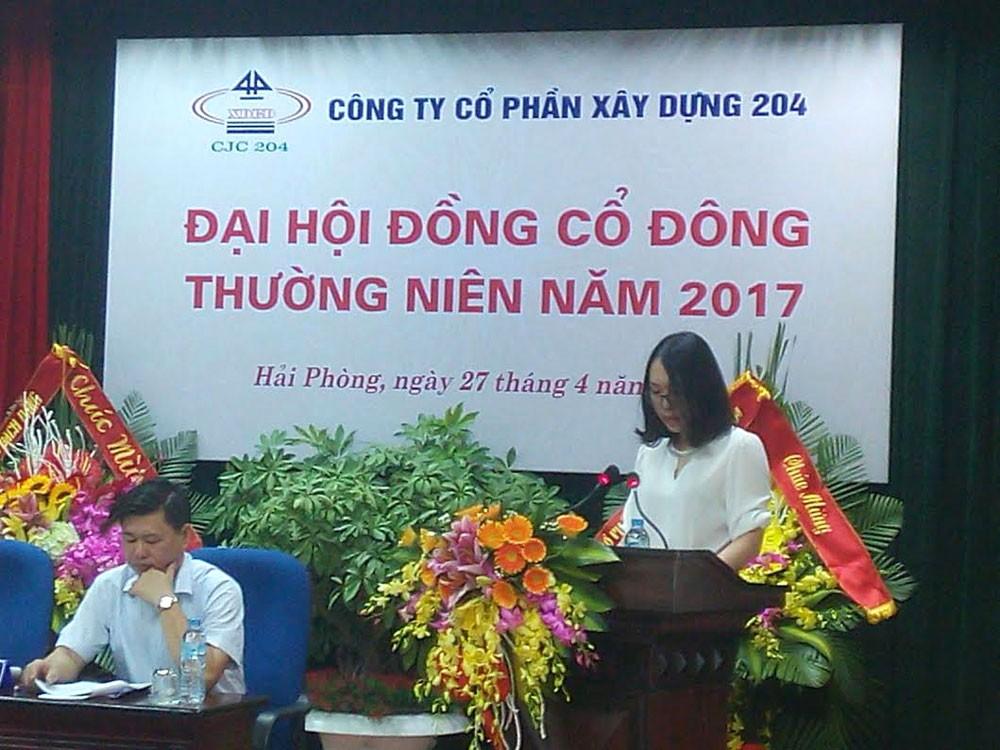 Công ty CP Xây dựng 204 không chấp nhận yêu cầu khởi kiện của ông Đồng Xuân Thép vì cho rằng việc trả cổ tức cho các cổ đông đều tiến hành sau khi Đại hội đồng cổ đông hoàn tất. Ảnh: NC st