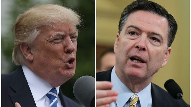 Tổng thống Donald Trump (trái) và cựu Giám đốc FBI James Comey (Ảnh: The Hill)