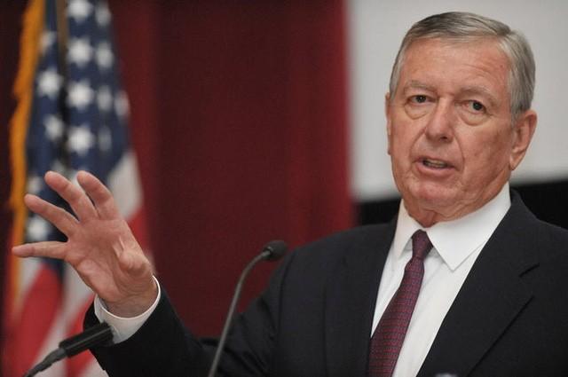 Cựu Bộ trưởng Tư pháp Mỹ John Ashcroft. (Ảnh: AFP)