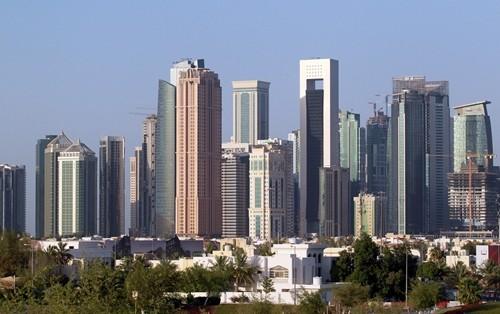 Các tòa nhà ở thủ đô Doha, Qatar. Ảnh:Reuters.