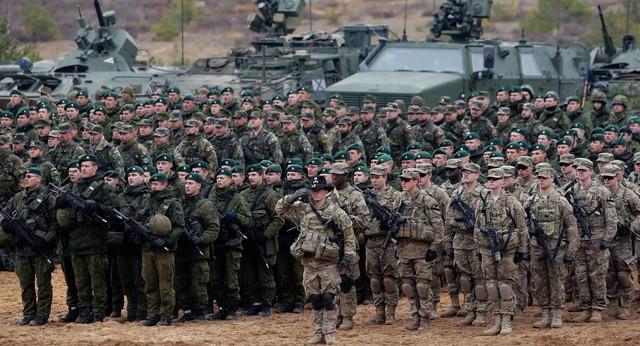 Một cuộc tập trận quân sự của NATO ở Lithuania (Ảnh: Sputnik)