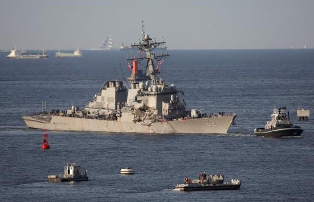 Tổng cộng có 4 tàu kéo tham gia cứu hộ tàu khu trục Mỹ.