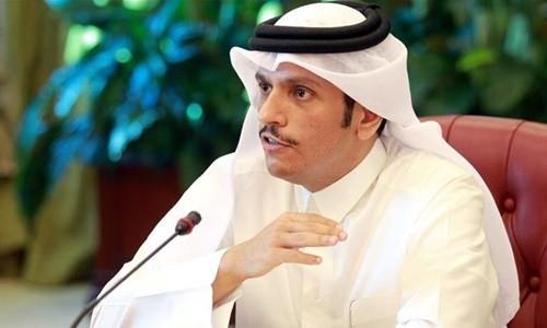Ngoại trưởng Qatar Mohammed bin Abdulrahman al-Thani. Ảnh:Reuters