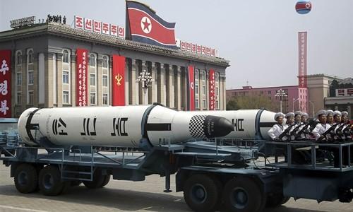 Một tên lửa của Triều Tiên. Ảnh:NBC News.