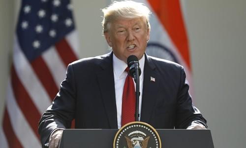 Tổng thống Mỹ Donald Trump phát biểu tại Vườn Hồng, Nhà Trắng, ngày 26/6. Ảnh:Reuters.