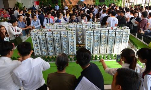 Thanh khoản căn hộ tại thị trường TP HCM đã tăng mạnh trở lại trong quý II/2017. Ảnh:Vũ Lê