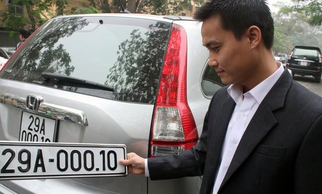 Bộ Công an xin thí điểm đấu giá biển số xe đẹp ở 5 thành phố lớn. (Ảnh minh họa)