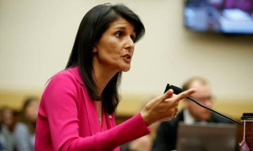 Nikki Haley, đại sứ Mỹ tại Liên Hợp Quốc. Ảnh:Reuters.