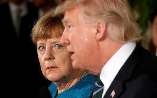 Thủ tướng Đức Angela Merkel và Tổng thống Mỹ Donald Trump trong cuộc gặp ở Washington hồi tháng 3/2017 - Ảnh: Reuters/RT.