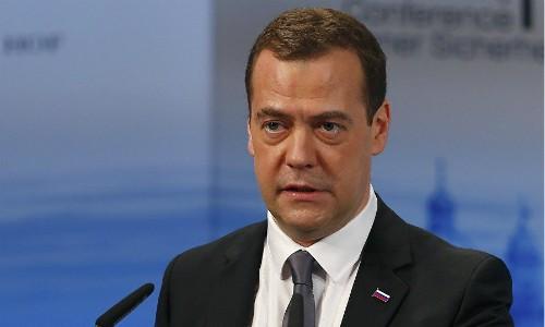 Thủ tướng Nga Dmitry Medvedev. Ảnh:Sputnik