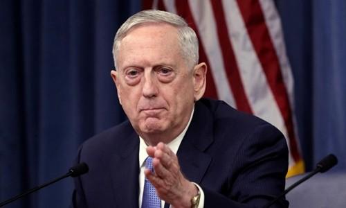 Bộ trưởng Quốc phòng Mỹ Jim Mattis. Ảnh:Reuters.