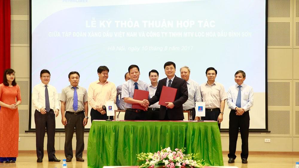 Công ty Lọc hóa dầu Bình Sơn hợp với Tập đoàn Xăng dầu Việt Nam