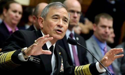 Đô đốc Harry Harris, tư lệnh Bộ chỉ huy Thái Bình Dương (PACOM) Mỹ. Ảnh:Reuters.