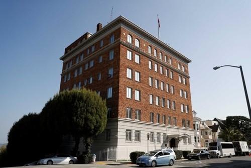 Tòa nhà tổng lãnh sự quán Nga tại San Francisco, Mỹ. Ảnh:ABC.