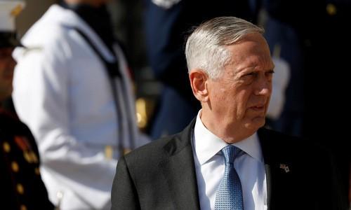 Bộ trưởng Quốc phòng Mỹ James Mattis. Ảnh:Reuters.