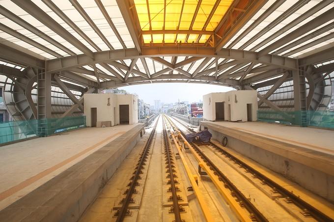Tuyến đường sắt đô thị đầu tiên chạy tàu thử nghiệm - ảnh 3