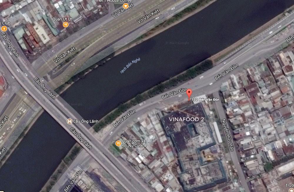 """Vinafood 2 đã góp vốn thành lập công ty để triển khai dự án tại khu """"đất vàng"""" ở số 132 Bến Vân Đồn, TP.HCM. Ảnh: Lý Kiệt"""