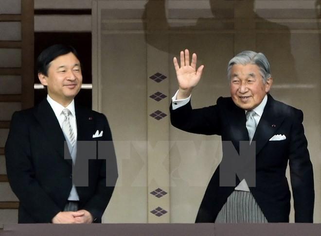 Nhật hoàng Akihito (phải) và Thái tử Naruhito. (Nguồn: AFP/TTXVN)