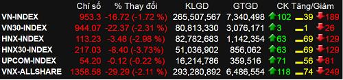 Bán tháo trên thị trường, VN-Index giảm gần 17 điểm - ảnh 1