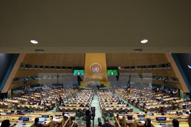 Một phiên họp của Đại Hội đồng Liên hợp quốc. (Nguồn: AFP/TTXVN)