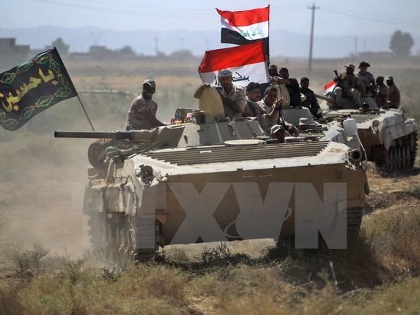 Binh sỹ Iraq sau khi giành quyền kiểm soát thành phố Hawija từ tay IS. (Nguồn: AFP/TTXVN)