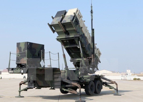 Hệ thống phòng thủ tên lửa Patriot. Ảnh minh họa. (Nguồn: Yonhap/TTXVN)