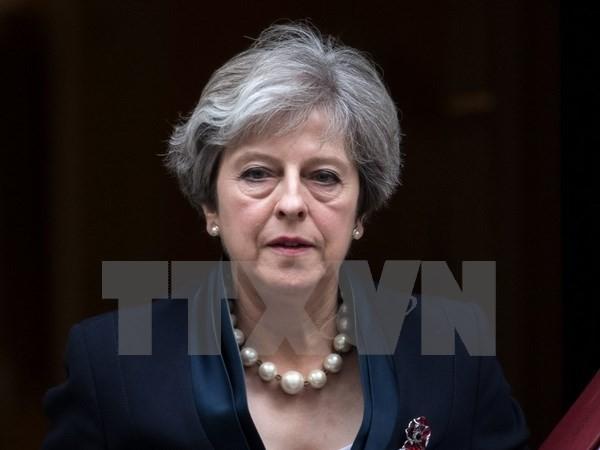 Thủ tướng Anh Theresa May tại thủ đô London. (Ảnh: AFP/TTXVN)