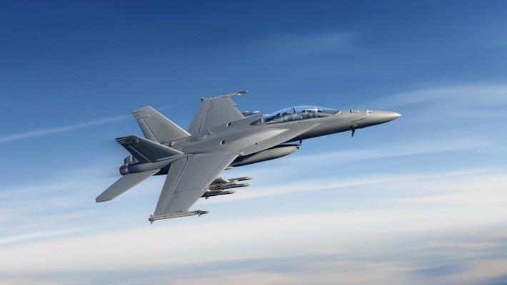 Một máy bay chiến đấu F/A-18 Super Hornet do hãng Boeing sản xuất.