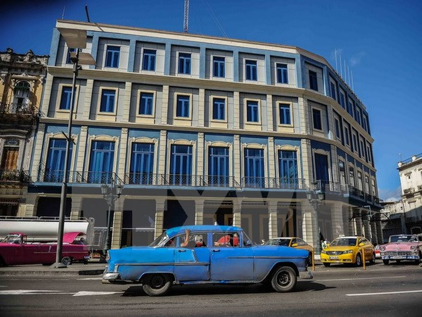 Khách sạn Telegrafo ở thủ đô La Habana. (Nguồn: AFP/TTXVN)