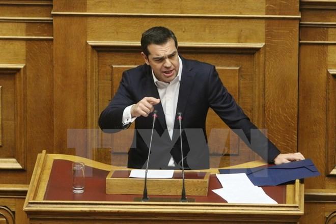 Thủ tướng Hy Lạp Alexis Tsipras. (Nguồn: THX/TTXVN)