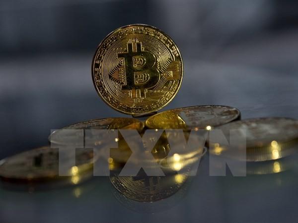 Đồng tiền Bitcoin tại London, Anh ngày 20/11. (Nguồn: AFP/TTXVN)