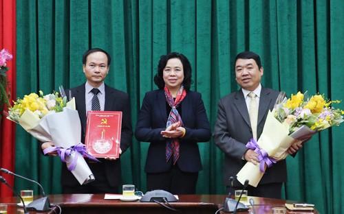Bổ nhiệm nhân sự Thành ủy Hà Nội và một số địa phương