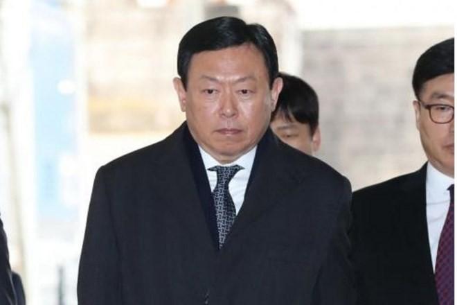 Chủ tịch Tập đoàn Lotte Shin Dong-bin. (Nguồn: EPA)
