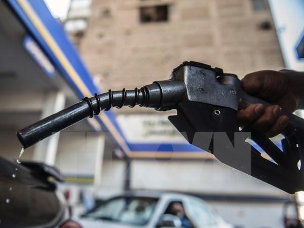 Bơm xăng cho các phương tiện tại trạm xăng ở Cairo, Ai Cập. (Nguồn: AFP/TTXVN)