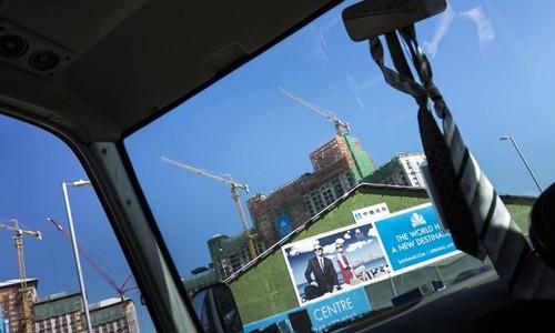 Dự án Baha Mar trong quá trình xây dựng năm 2013. Ảnh:AFP.