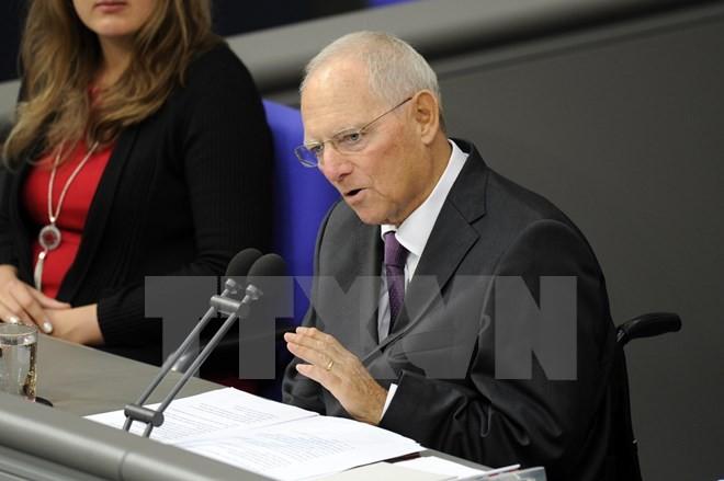 Ông Wolfgang Schaeuble trong một cuộc họp Quốc hội tại Berlin, Đức. (Nguồn: AFP/TTXVN)