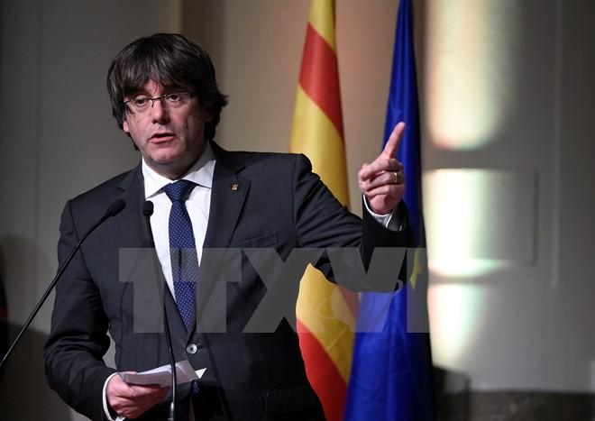 Cựu Thủ hiến vùng Catalonia Carles Puigdemont. (Nguồn: AFP/TTXVN)