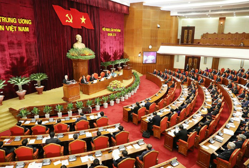 Theo Quy định 105, Bộ Chính trị sẽ quyết định trưởng các ban của Trung ương Đảng, Bộ trưởng, thủ trưởng cơ quan ngang bộ... Ảnh:VGP