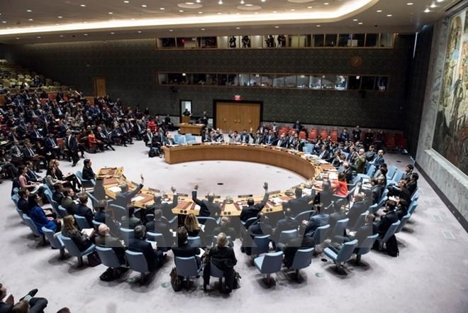 Một phiên họp của Hội đồng Bảo an Liên hợp quốc. (Ảnh: THX/TTXVN)