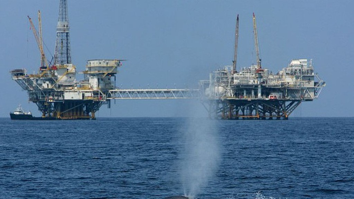 Một giàn khoan dầu của Mỹ trên Vịnh Mexico.